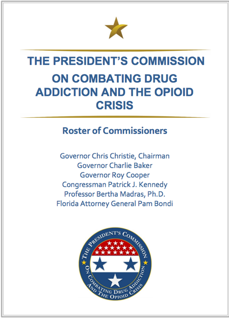 President's Commission on combating drug addiction and the opioid crisis